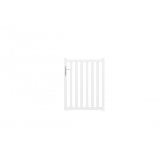 Portillon alu ajouré Chavana - Blanc 9016 brillant