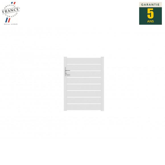 Portillon alu ajouré Riviera - Blanc 9016 brillant