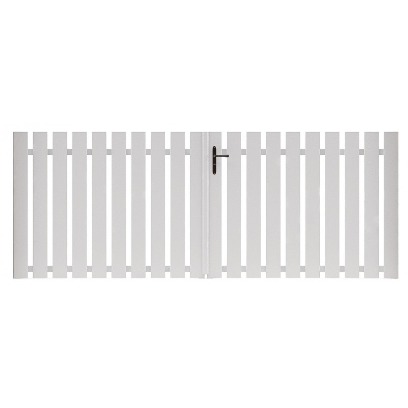 craquez pour les lames simples du portail pvc armoni outdoorin