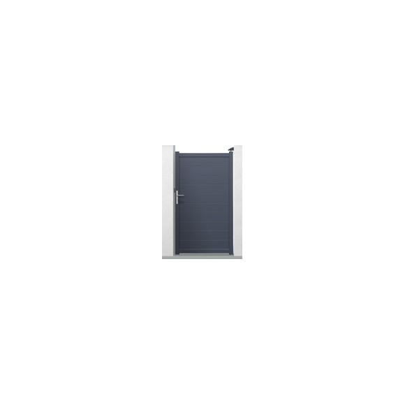 Portillon alu EVANS gris 1m