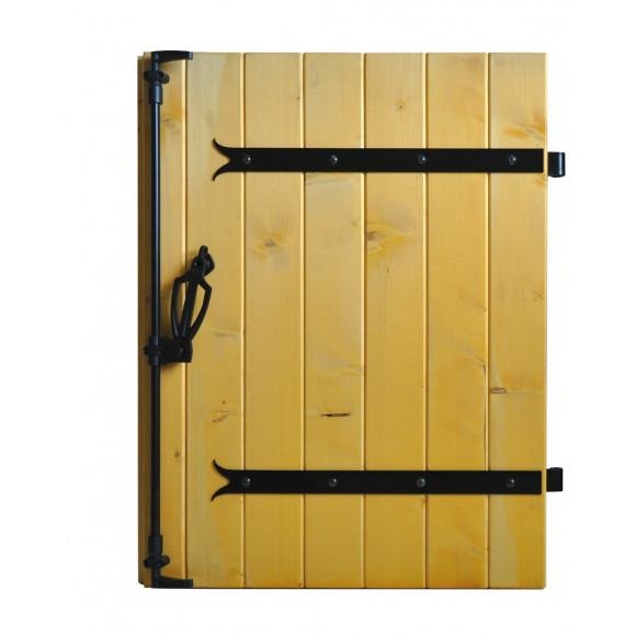 Volet bois penture contre-penture 1 vantail - vue intérieure