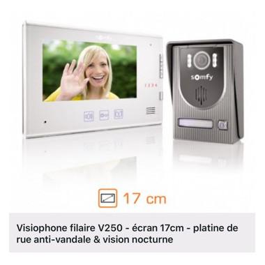 Visiophone SOMFY V250 (TVA réduite)