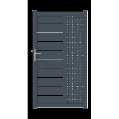 PORTILLON ALU CAPIA L100 H182 - GRIS (RAL7016)
