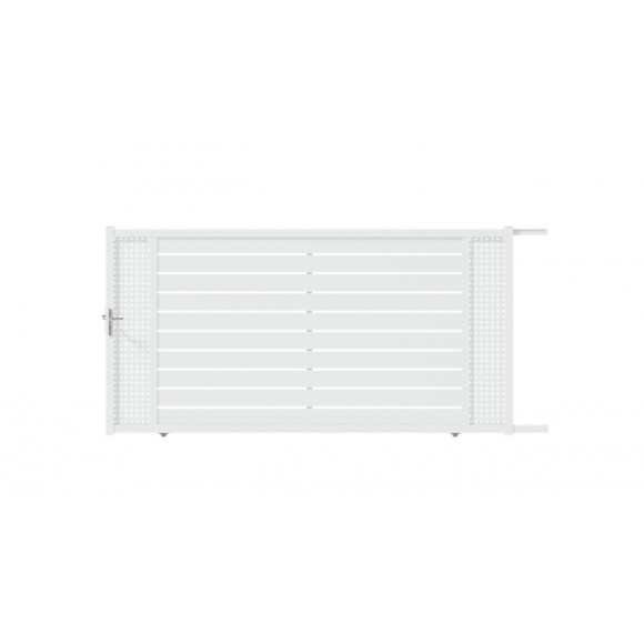 PORTAIL ALU COULISSANT CAPIA L400 H183 - BLANC (RAL9016)