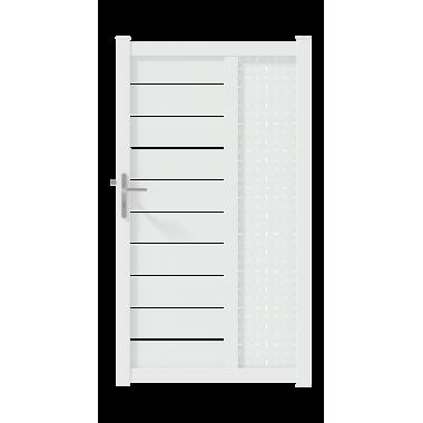 PORTILLON ALU CAPIA L100 H182 - BLANC (RAL9016)