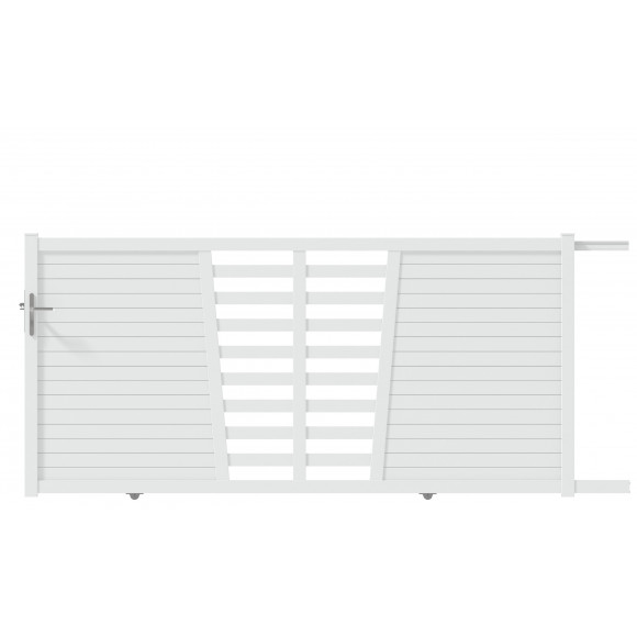PORTAIL ALU COULISSANT TABA L350 H145 - BLANC (RAL9016)