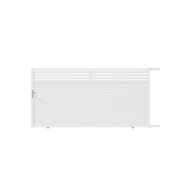 PORTAIL ALU COULISSANT INDIA L300 H185 - BLANC (RAL9016)