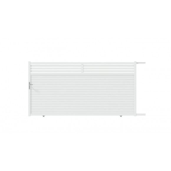 PORTAIL ALU COULISSANT INDIA L350 H185 - BLANC (RAL9016)