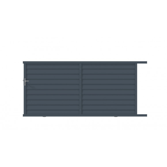 PORTAIL ALU COULISSANT ZELMA L400 H158 - GRIS (RAL7016)