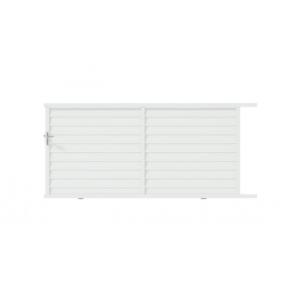 PORTAIL ALU COULISSANT ZELMA L350 H158 - BLANC (RAL9016)