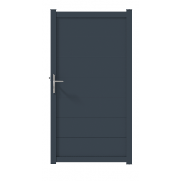 PORTILLON ALU PALMA L100 H191 - GRIS (RAL7016)