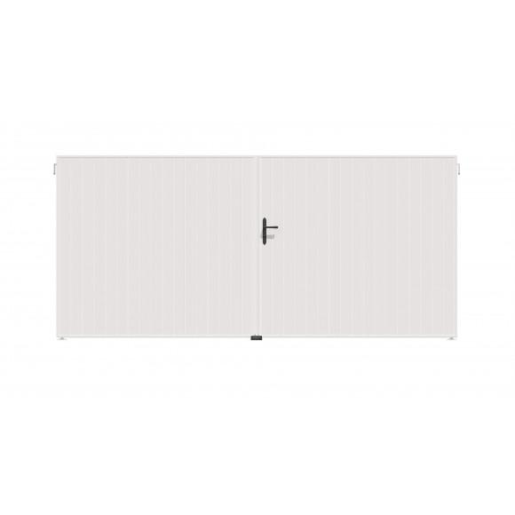 PORTAIL PVC BATTANT MAORI L300 H140 - BLANC