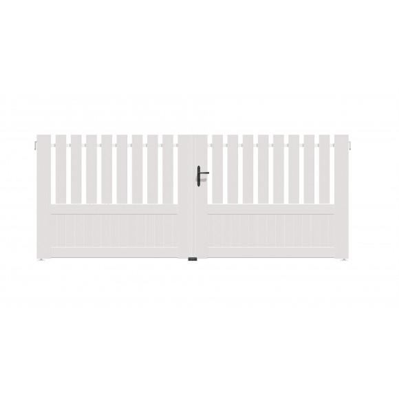 PORTAIL PVC BATTANT AZILY L300 H140 - BLANC