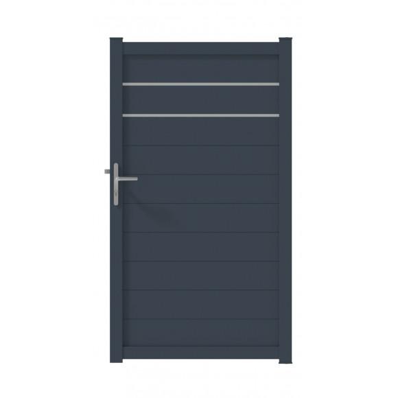 PORTILLON ALU GALA L100 H180 - GRIS (RAL7016)