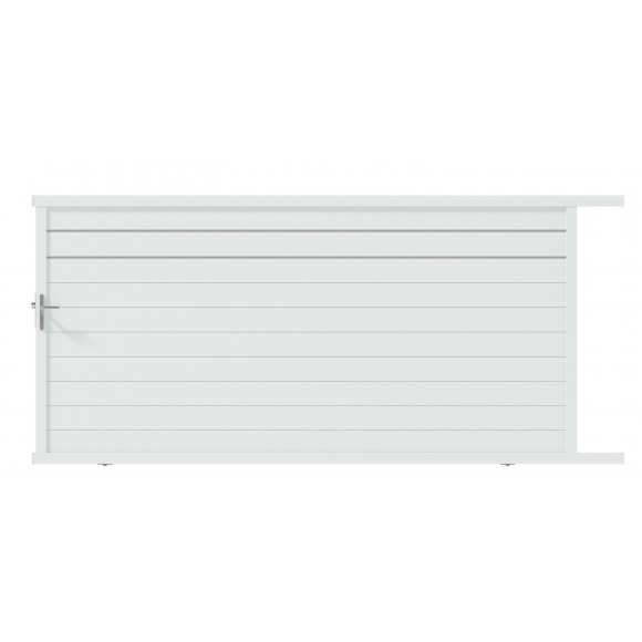 PORTAIL ALU COULISSANT GALA L400 H176 - BLANC (RAL9016)