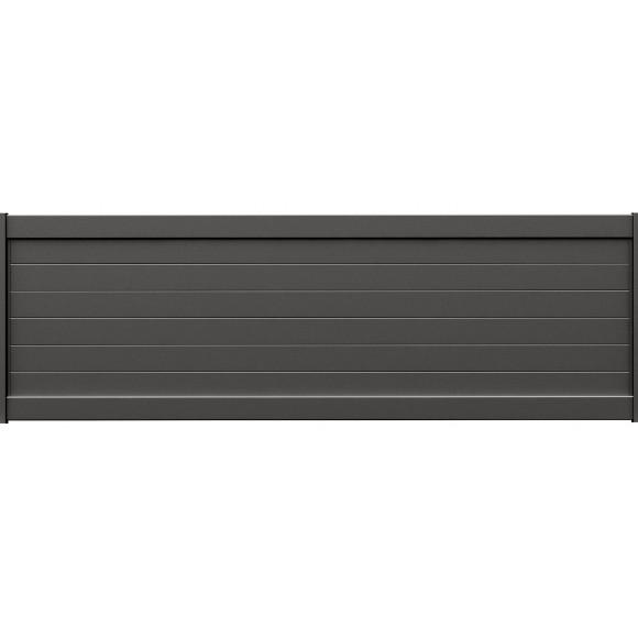 PANNEAU DE CLÔTURE ALU FINES LAMES H60 - GRIS (RAL7016)