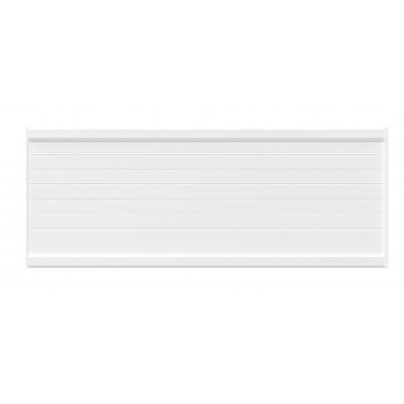 PANNEAU DE CLÔTURE ALU FINES LAMES H60 - BLANC (RAL9016)