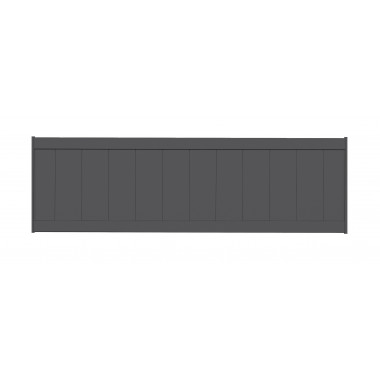 PANNEAU DE CLÔTURE ALU LAMES VERTICALES H60 - GRIS (RAL7016)