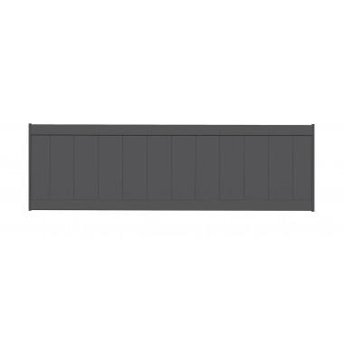 PANNEAU DE CLÔTURE ALU LAMES VERTICALES H100 - GRIS (RAL7016)