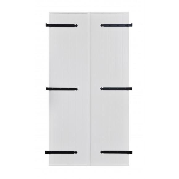 VOLETS BATTANTS PVC 2 VANTAUX PENTURE CONTRE PENTURE L140 H225 - BLANC