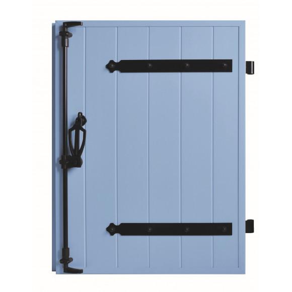 VOLETS BATTANTS PVC 1 VANTAIL PENTURE CONTRE PENTURE L60 H75 - BLEU PIGEON (RAL 5014 FT)
