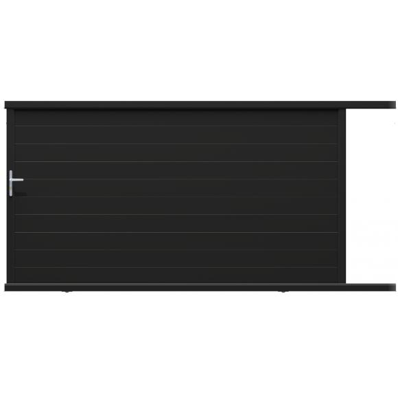 Portail alu NANCRAY coulissant noir 3m