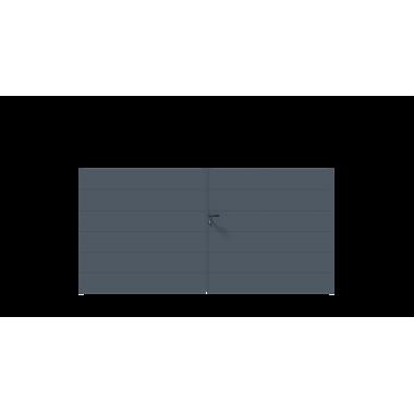 PORTAIL ALU BATTANT SIMBA L300 H148 - GRIS (RAL7016)