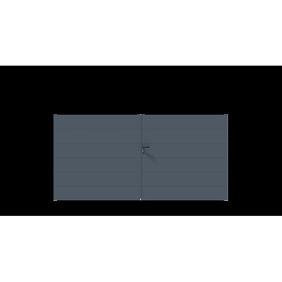 PORTAIL ALU BATTANT SIMBA L350 H148 - GRIS (RAL7016)