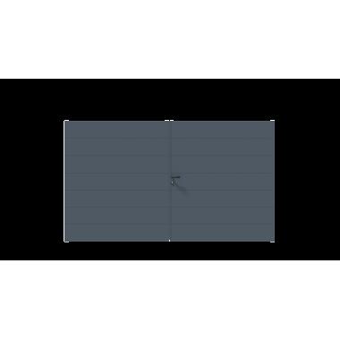 PORTAIL ALU BATTANT SIMBA L300 H172 - GRIS (RAL7016)