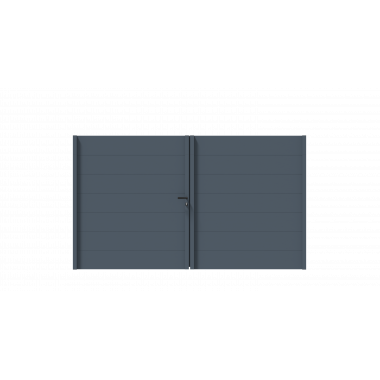 PORTAIL ALU BATTANT SIMBA L350 H172 - GRIS (RAL7016)