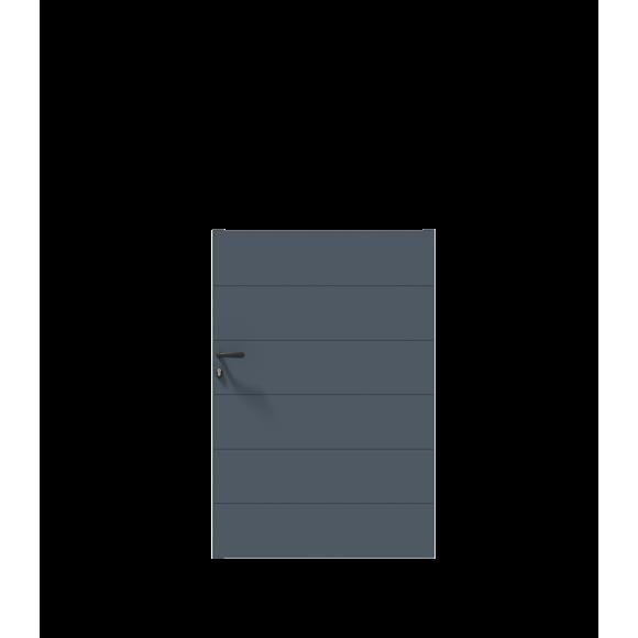 PORTILLON ALU SIMBA L100 H148 - GRIS (RAL7016)