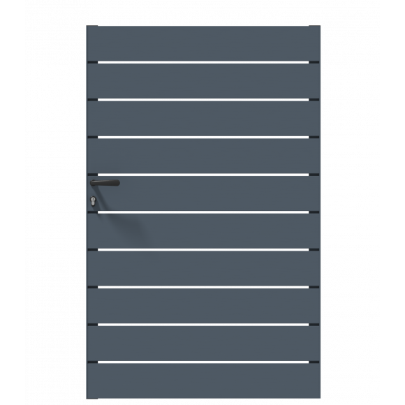 PORTILLON ALU SAMBA L100 H159 - GRIS (RAL7016)