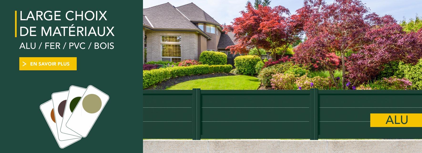 Cloture Jardin Pvc Pas Cher portail, clôture en aluminium - outdoorin