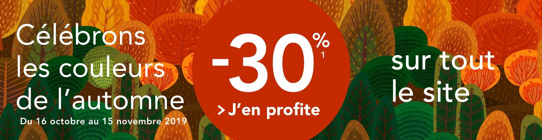 [Automne] -30% sur le site